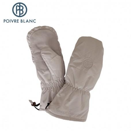 moufles de ski poivre blanc blanc femme sport a tout prix. Black Bedroom Furniture Sets. Home Design Ideas