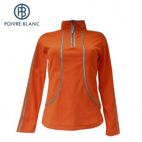 Polaire POIVRE BLANC One Side Fleece Sweater Flamme Femme
