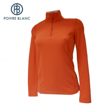 Maillot POIVRE BLANC 1st Layer Sweater Flamme Femme