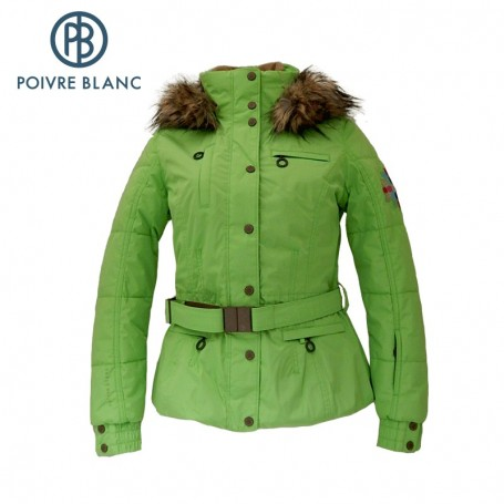 Blouson de ski POIVRE BLANC Jacket Green flash Femme