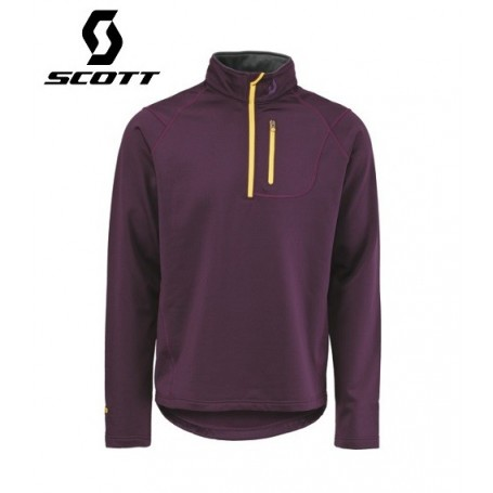 Maillot technique SCOTT 1/2 Zip SIX6 violet Homme
