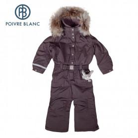 Combinaison de ski P. BLANC Overall Choco BB Fille (Real fur)