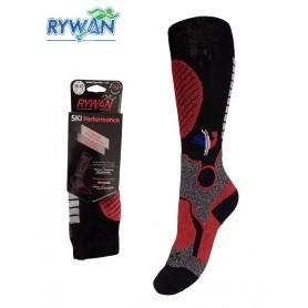 Chaussettes de ski RYWAN Sensass Thermolite Noir Unisexe
