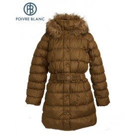 Manteau Duvet POIVRE BLANC Down Coat Or Fille