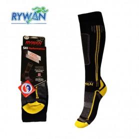 Chaussettes de ski RYWAN Cortina Noir/Jaune Unisexe