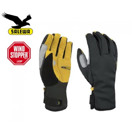 Gants Windstopper SALEWA Tooler Noir/Jaune Unisexe