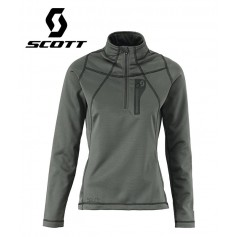Pullover 1/2 zip SCOTT Four4 Anthracite Femmes