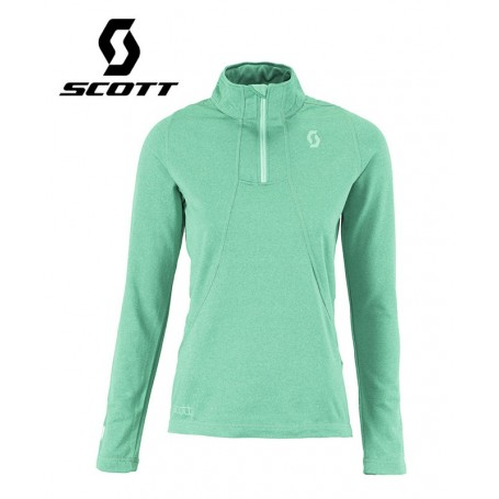 Pullover 1/2 zip SCOTT Two2 Vert Femmes