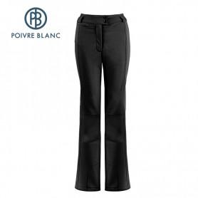 Pantalon de ski POIVRE BLANC WO Stretch Ski Noir Femmes
