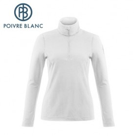 Maillot POIVRE BLANC 1st Layer Sweater Blanc Femme