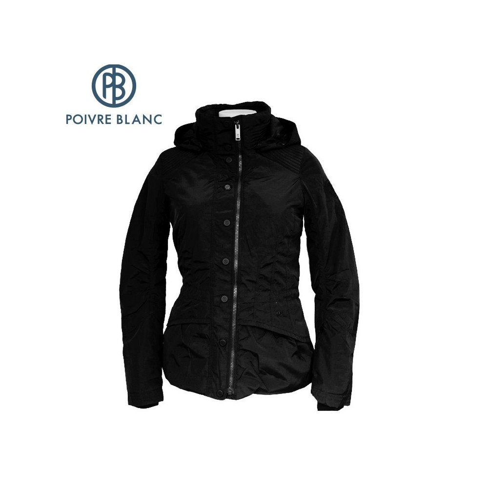 anorak de ski poivre blanc wo ski jacket noir femmes. Black Bedroom Furniture Sets. Home Design Ideas