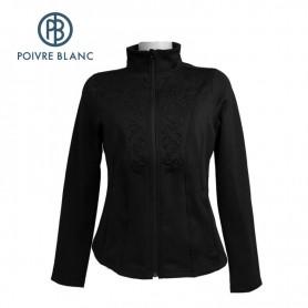 Veste stretch POIVRE BLANC WO Jacket Noir Femme