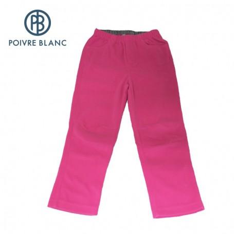 Pantalon polaire POIVRE BLANC One Side Rose BB Fille