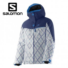 Veste de ski SALOMON Snowink Jkt Bleu Filles