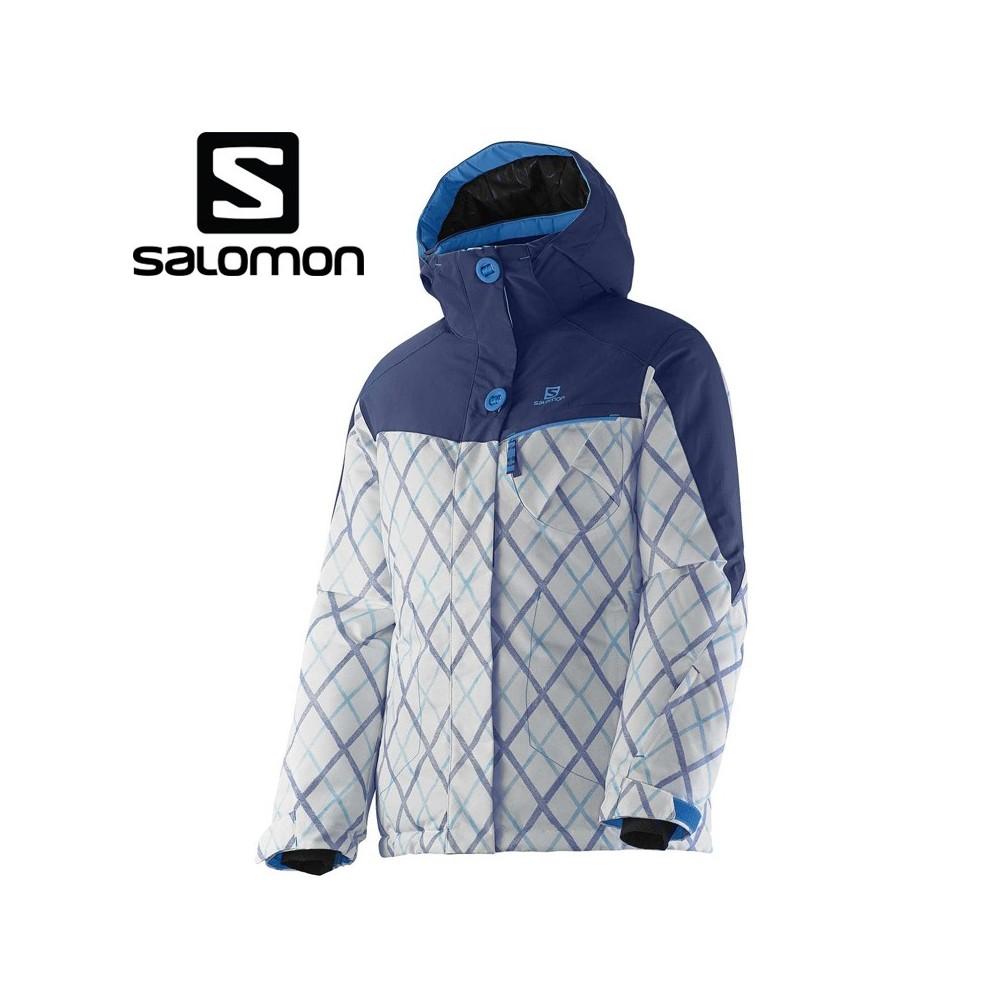 veste de ski salomon snowink jkt bleu filles sport a. Black Bedroom Furniture Sets. Home Design Ideas