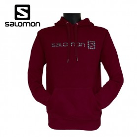 Sweat SALOMON Linear Winter Logo Rouge Hommes