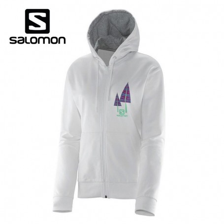 Sweat SALOMON Trees way Hoodie Blanc Femmes