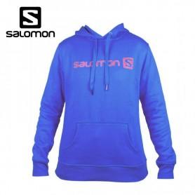 Sweat SALOMON Linear Winter Logo Bleu Femmes