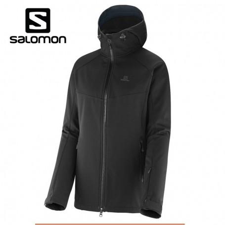 1 Premium Noir Femmes Veste De Ski Salomon 3 Tout A Sport Snowtrip YYAgwq