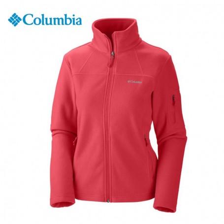 504350dcd45 Veste polaire COLUMBIA Fast Trek II Corail Femme - Sport a tout prix