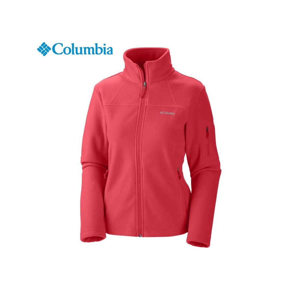 veste polaire columbia fast trek ii corail femme sport a tout prix. Black Bedroom Furniture Sets. Home Design Ideas