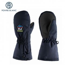 Moufles de ski zippées POIVRE BLANC Noir BB Garçon