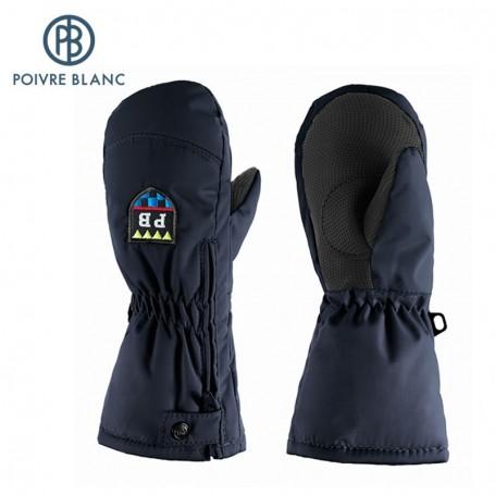 Moufles de ski zippées POIVRE BLANC W14-0973 BBBY Noir BB Garçon