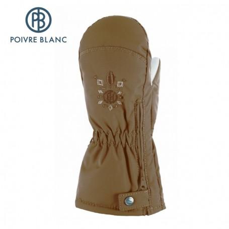 Moufles de ski zippées POIVRE BLANC W14-1073 BBGL Miel BB Fille