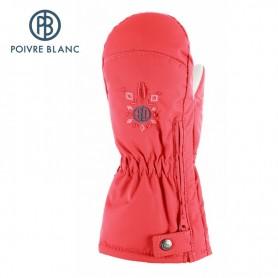 Moufles de ski zippées POIVRE BLANC Sunset BB Fille