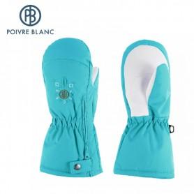 Moufles de ski zippées POIVRE BLANC Turquoise BB Fille