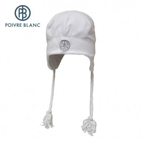 Bonnet POIVRE BLANC Peruvian Hat Blanc Bébé