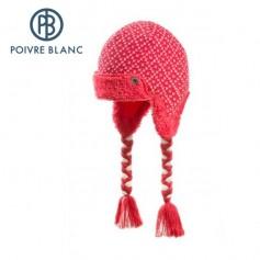 Bonnet POIVRE BLANC Jacquard Peruvian Hat Corail Fille