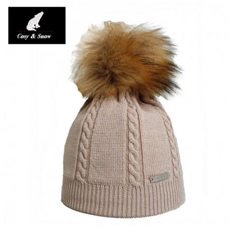 Bonnet fin COSY & SNOW Coyote Ecru Femme