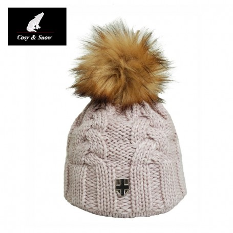 Bonnet de ski COSY & SNOW Ecru Unisexe