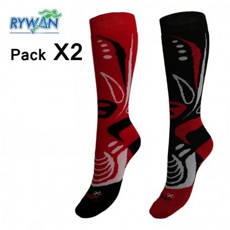 Chaussettes de ski RYWAN Biodesign Unisexe (2 paires)