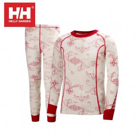 Ensemble thermique HELLY HANSEN Warm Set Blanc JR