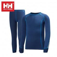 Ensemble thermique HELLY HANSEN Warm Set Bleu JR