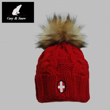 Bonnet de ski COSY & SNOW Eden Rouge Unisexe
