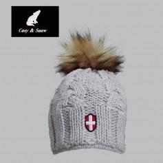 Bonnet de ski COSY & SNOW Eden Beige Unisexe