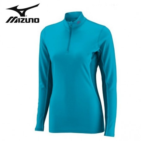 Maillot thermique MIZUNO Mid Weight 1/2 zip Bleu Junior