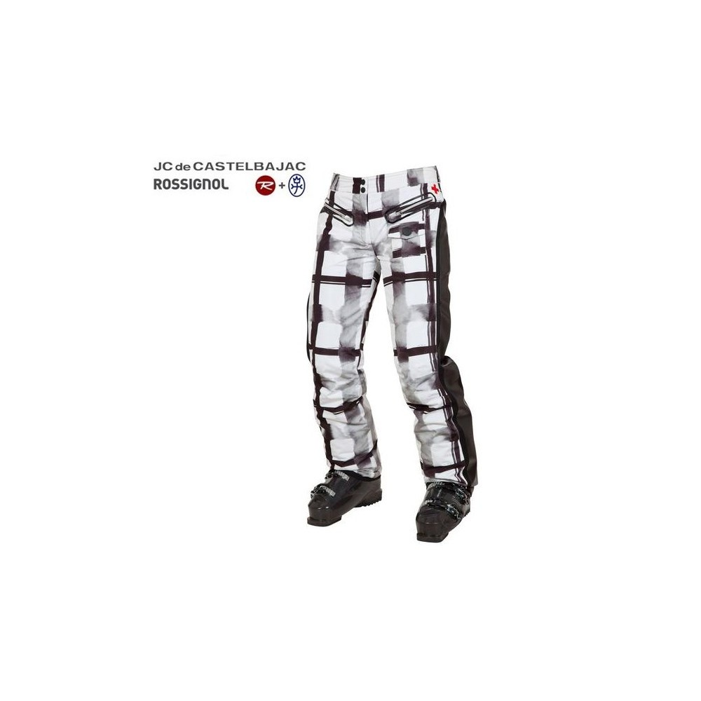 pantalon de ski rossignol jjc deborah blanc femme sport a tout prix. Black Bedroom Furniture Sets. Home Design Ideas