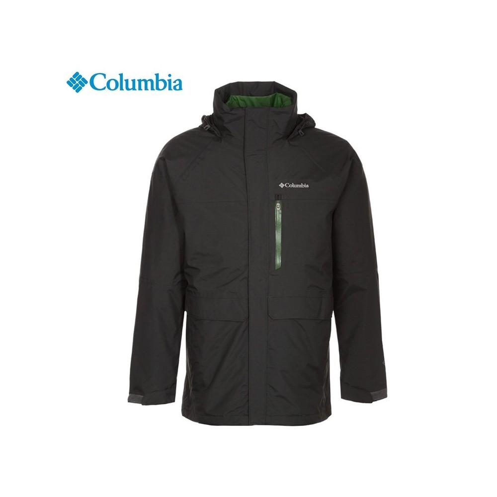 Parka 3 en 1 COLUMBIA Portland Explorer Noir Hommes Sport
