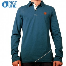 Polo PICTURE ORGANIC Icon Bleu Hommes