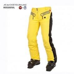 Pantalon de ski ROSSIGNOL JJC Deborah Jaune Femme