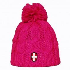 Bonnet de ski Savoie Pompon Rose Fluo