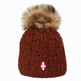 Bonnet de ski Pompon Le Coyote Noisette