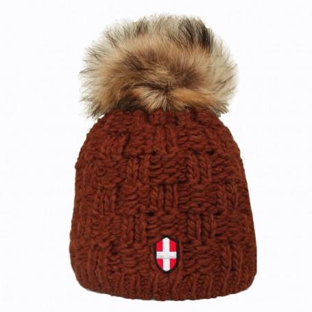 Bonnet de ski Pompon Le Chalet Noisette