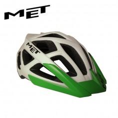 Casque de vélo MET Terra Blanc/Vert Unisexe