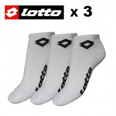 Socquette LOTTO Blanche Hommes (X 3 paires)