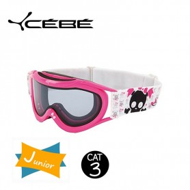 Masque De Ski Cebe Super Marwin JUNIOR Pink Skull Iridium Cat. 3